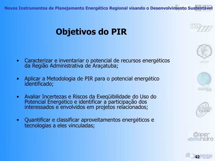 Objetivos do PIR