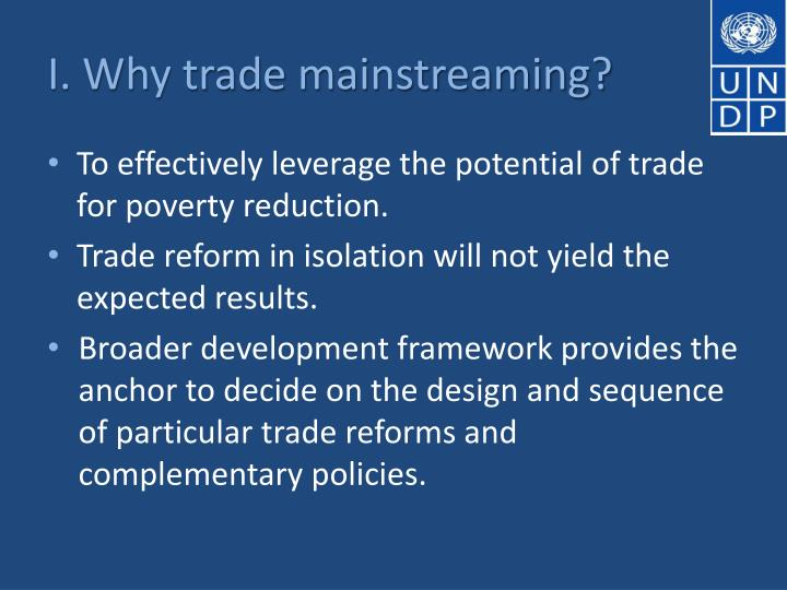 I. Why trade mainstreaming?