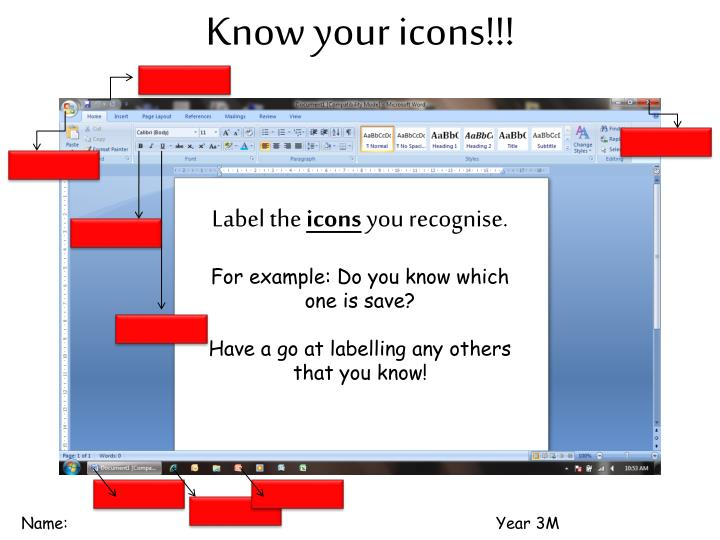 Know your icons!!!