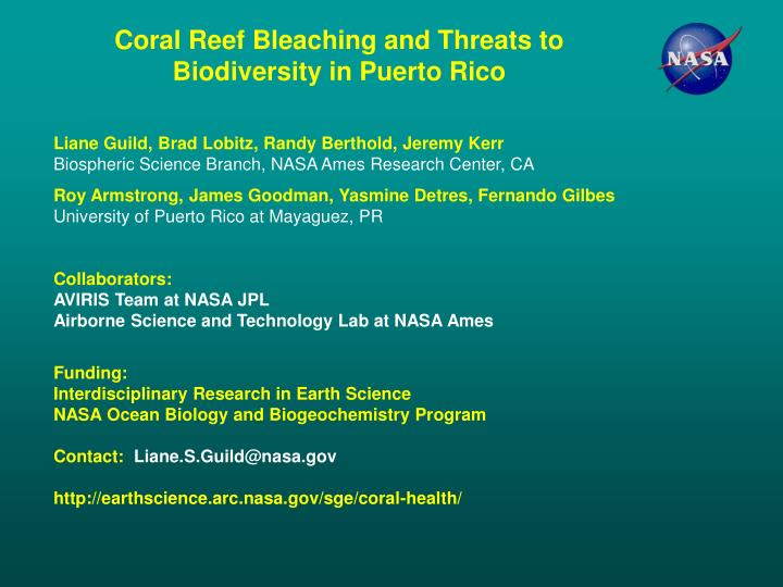 Coral Reef Bleaching and Threats to Biodiversity in Puerto Rico