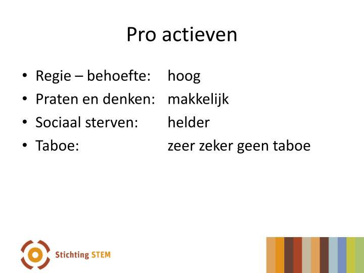 Pro actieven