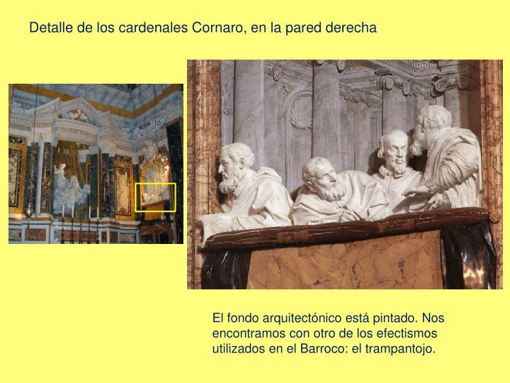 Detalle de los cardenales Cornaro, en la pared derecha