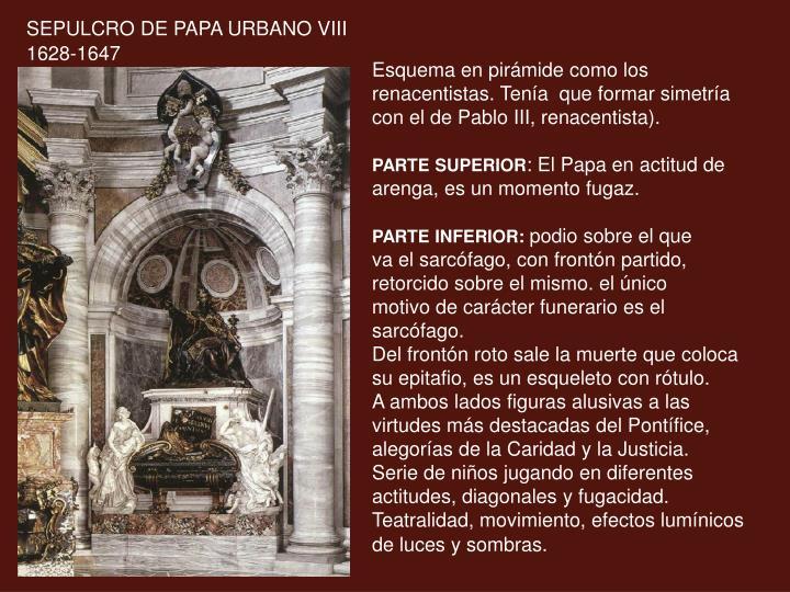 SEPULCRO DE PAPA URBANO VIII