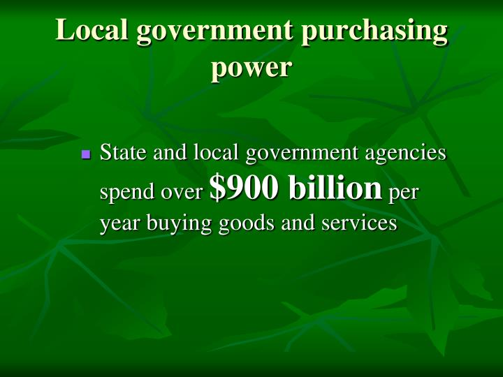Local government purchasing power
