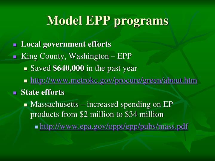 Model EPP programs