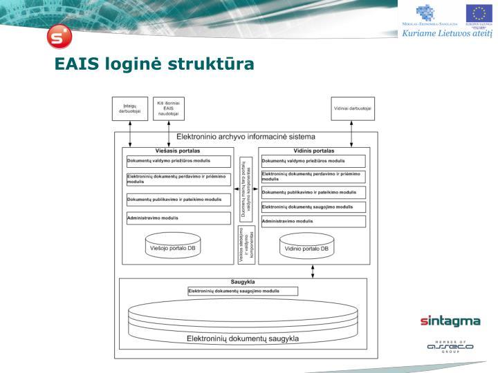 EAIS loginė struktūra
