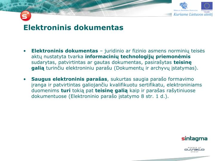 Elektroninis dokumentas