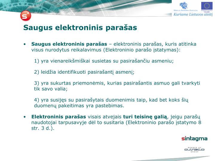 Saugus elektroninis parašas