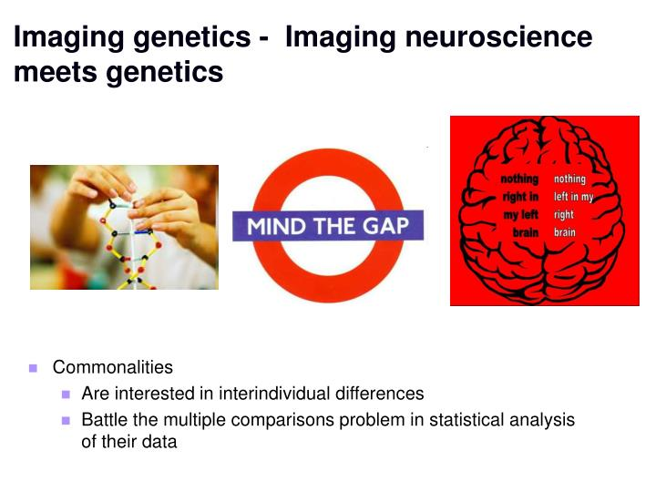 Imaging genetics -  Imaging neuroscience meets genetics