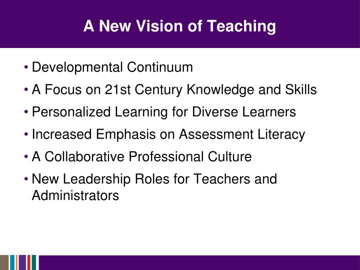 A New Vision of Teaching
