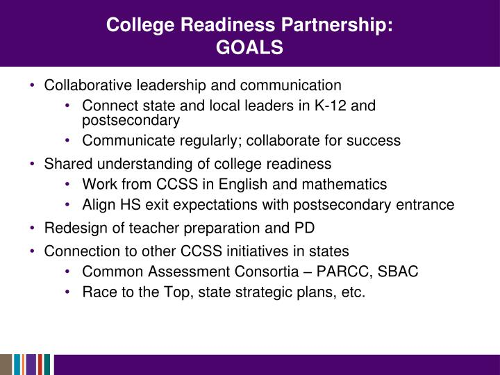 College Readiness Partnership: