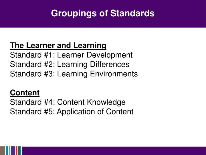 Groupings of Standards