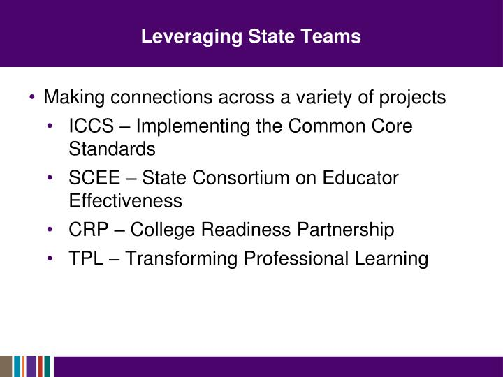Leveraging State Teams