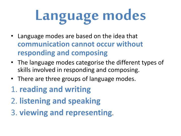 Language modes