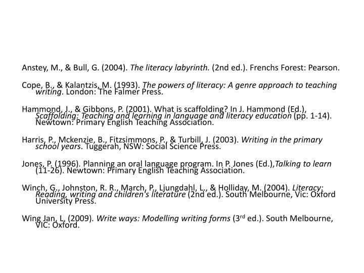 Anstey, M., & Bull, G. (2004).