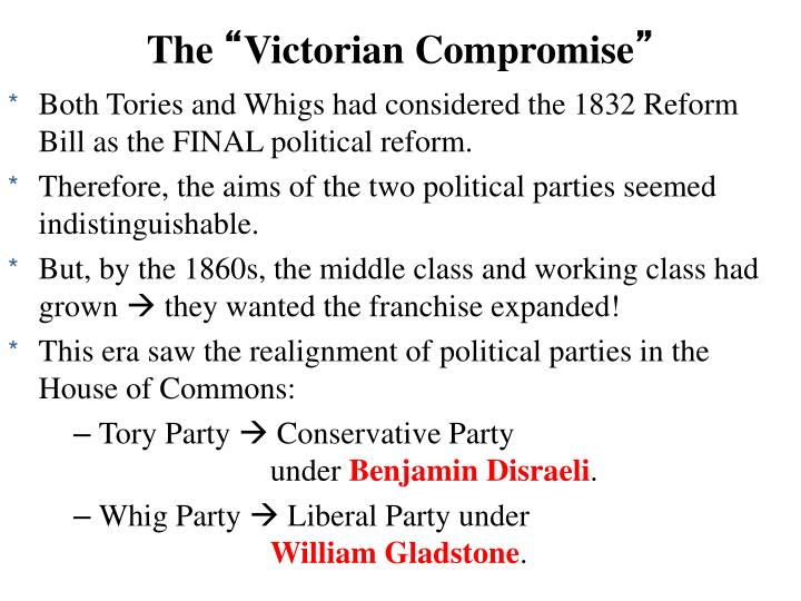 the victorian compromise the victorian compromise Watch victorian literature video lessons to learn about 19th century authors, their  attempts to create happy endings, societal expectations and.