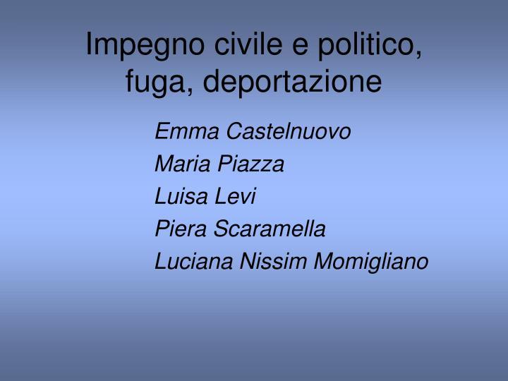 Impegno civile e politico,