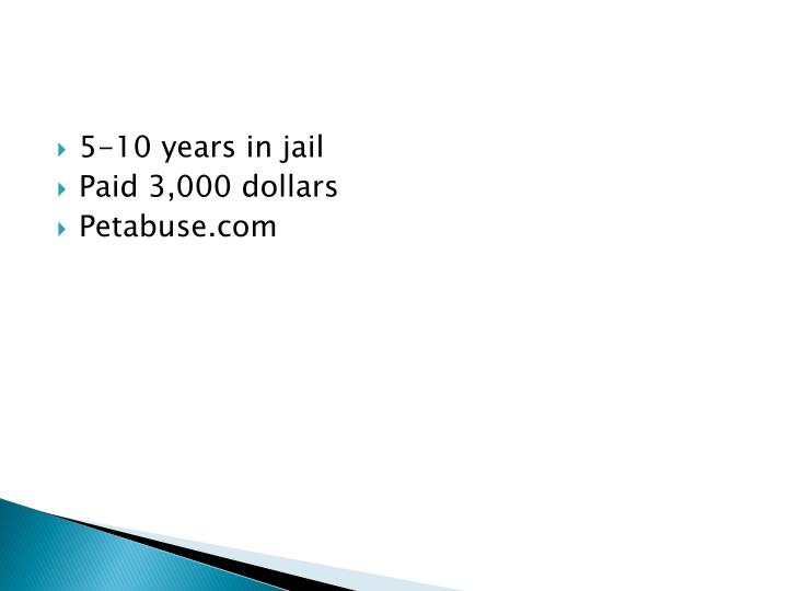 5-10 years in jail