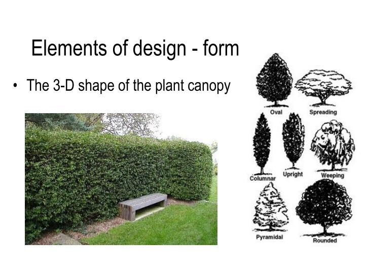 Elements Of Design Form : Ppt principles of landscaping powerpoint presentation