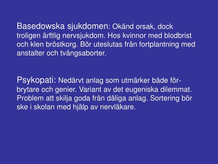 Basedowska sjukdomen