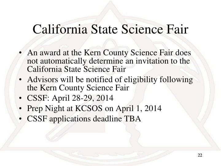 California State Science Fair