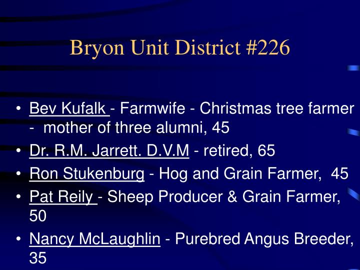 Bryon Unit District #226