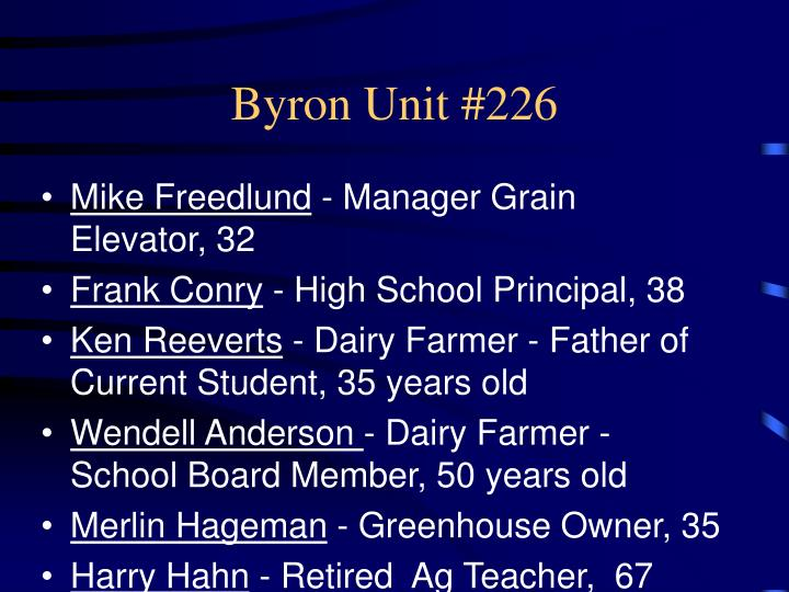 Byron Unit #226