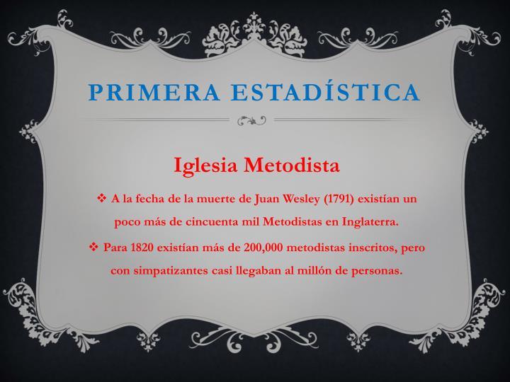 Primera estadística