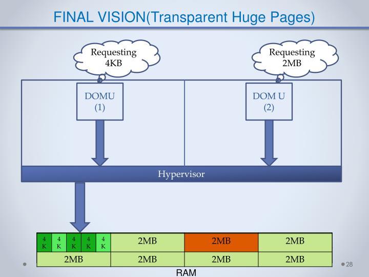 FINAL VISION(Transparent Huge Pages)