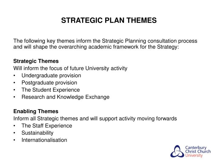 STRATEGIC PLAN THEMES