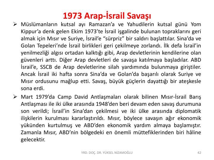 1973 Arap-İsrail Savaşı