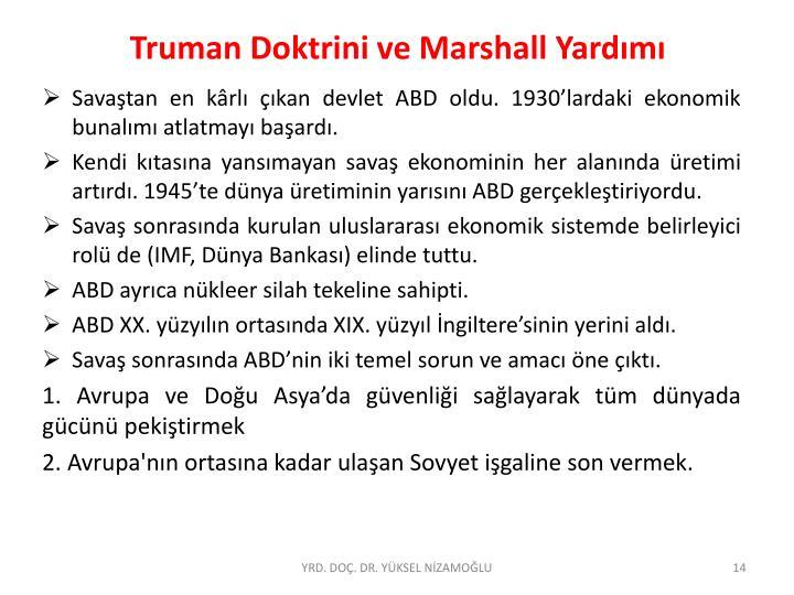 Truman Doktrini ve Marshall Yardımı