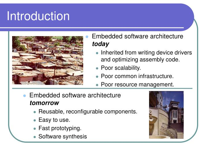 Embedded software architecture