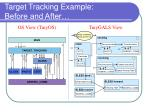 target tracking example before and after