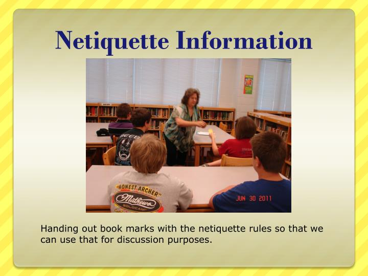 Netiquette information