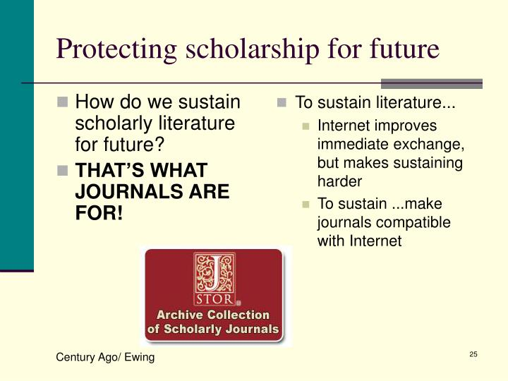 How do we sustain scholarly literature for future?