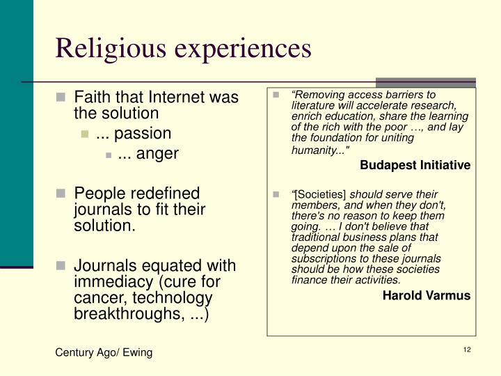Faith that Internet was the solution