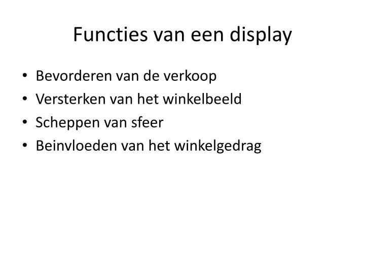Functies van een display