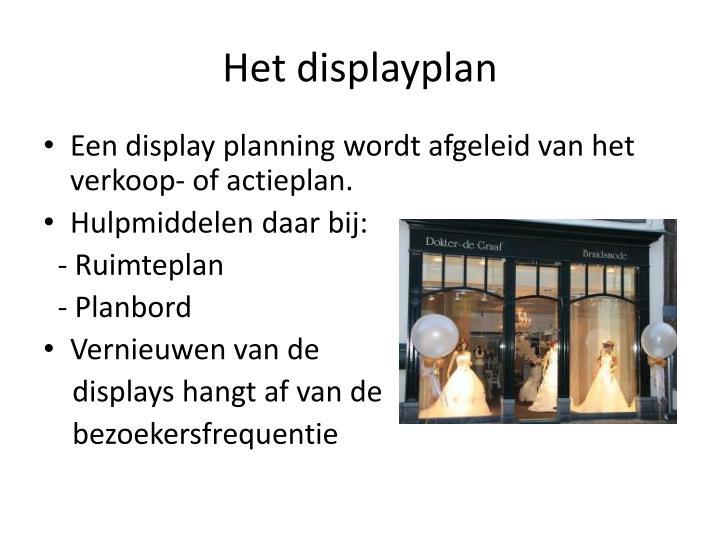 Het displayplan