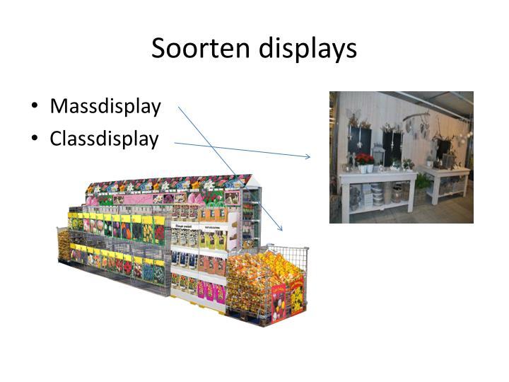 Soorten displays