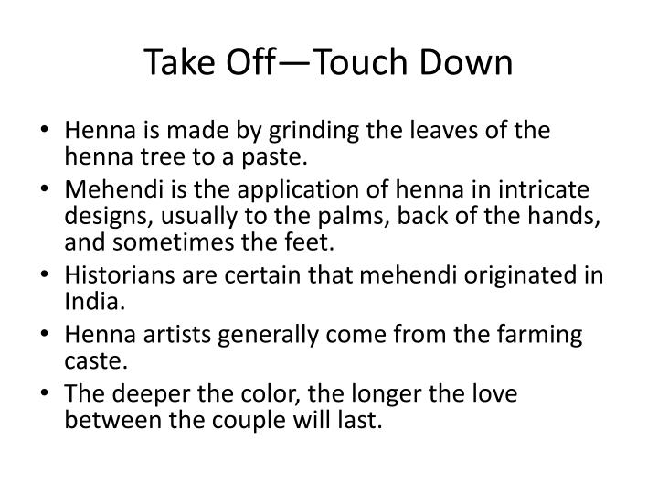 Take Off—Touch Down