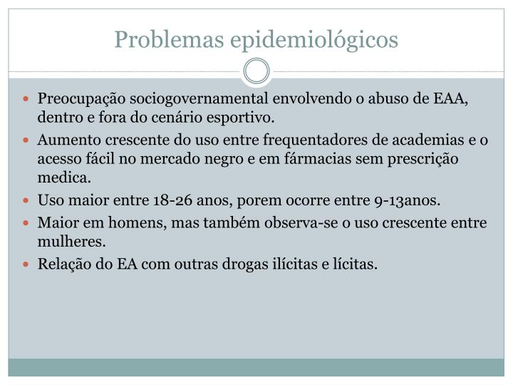 Problemas epidemiológicos