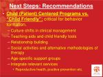 next steps recommendations1