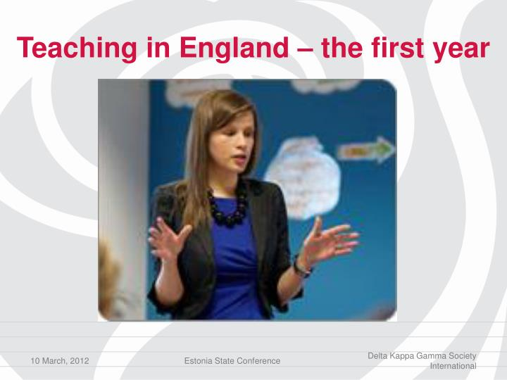 Teaching in england the first year