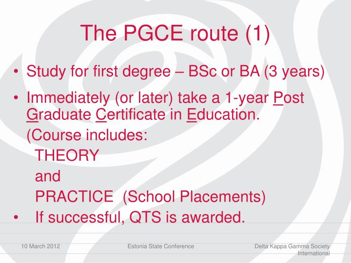 The PGCE route (1)