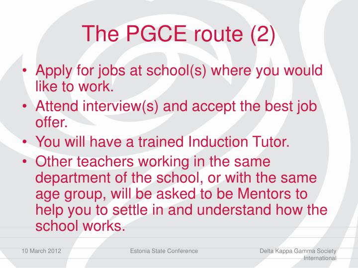 The PGCE route (2)