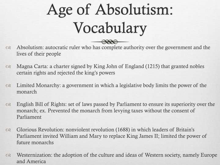 Age of Absolutism: