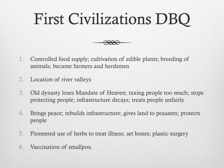 First Civilizations DBQ