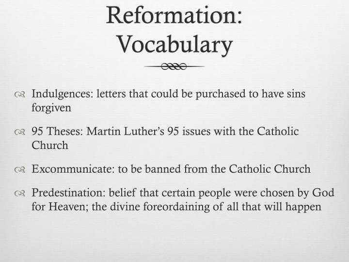 Reformation: