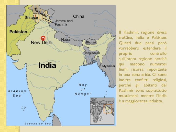 Il Kashmir, regione divisa
